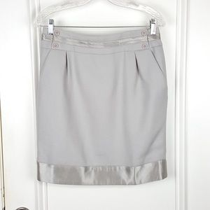 Body by Victoria | Gray Wool Satin Pencil Skirt